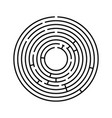 abstract round maze an educational game for vector image vector image