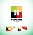 Alphabet letter H vintage strong colors logo icon vector image vector image