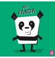 Angle panda vector image