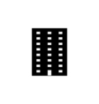 apartment icon flat vector image vector image