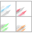 Arrow abstract background collection template vector image vector image