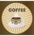 background with a fresh Cup of aromatic coffee vector image vector image