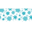 Blue Frost Snowflakes Horizontal Seamless Pattern vector image vector image