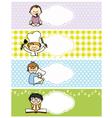 boy stickers vector image vector image