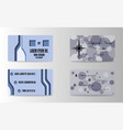 business card for print vector image vector image
