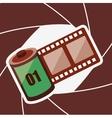 camera shutter background vector image