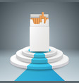 cigarette pack stair ladder vector image