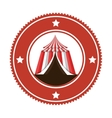 circus tent entertainment icon vector image vector image
