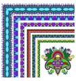 collection of ornamental floral vintage frame vector image vector image