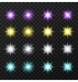 Colorful stars set vector image vector image