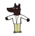 comic cartoon wolf vector image vector image