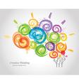 creative human brain in work vector image vector image