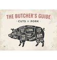 Cut of meat set Poster Butcher diagram scheme vector image