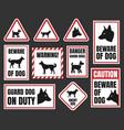 danger dog signs beware dog vector image vector image