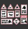 danger dog signs beware of dog vector image vector image