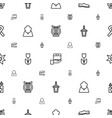 decorative icons pattern seamless white background vector image vector image