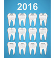 Dental calendar 2016 year vector image