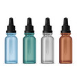 dropper bottle clear serum cosmetic pipette flask vector image vector image