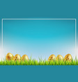 easter sale background golden easter eggs on a vector image vector image