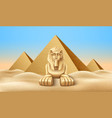 egypt pyramid and sphinx landmark realistic vector image vector image