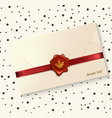 envelope with red wax seal vector image
