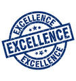 excellence blue round grunge stamp vector image vector image