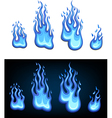 Gas flame set vector image