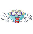 geek rice bowl character cartoon vector image