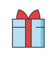gift wrapped box concept line icon vector image vector image