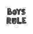 girls rule - fun hand drawn nursery poster with vector image vector image