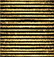 Gold glow striped background with stars vector image vector image