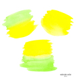 green and yellow set watercolor vector image
