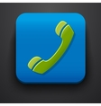 Green call symbol icon on blue vector image vector image