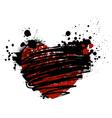 grunge heart vector image vector image