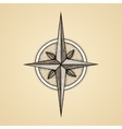 Hand drawn compass wind rose symbol vector image vector image