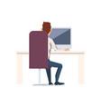 happy man work in office vector image vector image
