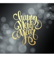 Happy New Year background with a gold lettering vector image vector image