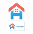 House with letter H logo vector image