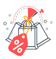 icon sale with packages vector image vector image