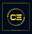 initial letter ce logo template design vector image