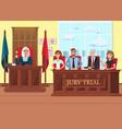 jury trial in process flat
