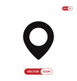 location icon pin symbol isolated on white vector image vector image