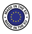 made in european union flag icon vector image vector image