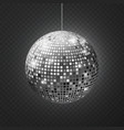 mirror disco ball soffit reflection ball mirrored vector image vector image