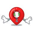 money eye map marker navigation pin mascot cartoon vector image vector image