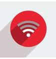 mosern flat wifi circle icon vector image vector image