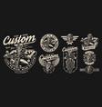 motorcycle vintage designs composition vector image vector image