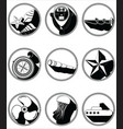 Nautical elements II icons in knotted circle vector image vector image