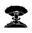 nuclear burst cartoon bomb explosion radioactive vector image