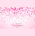 pink pattern random falling hearts confetti vector image